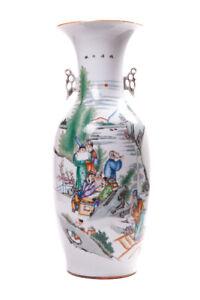 Antique Vintage Original 19th/20th Chinese Large porcelain vase FAMILLE ROSE