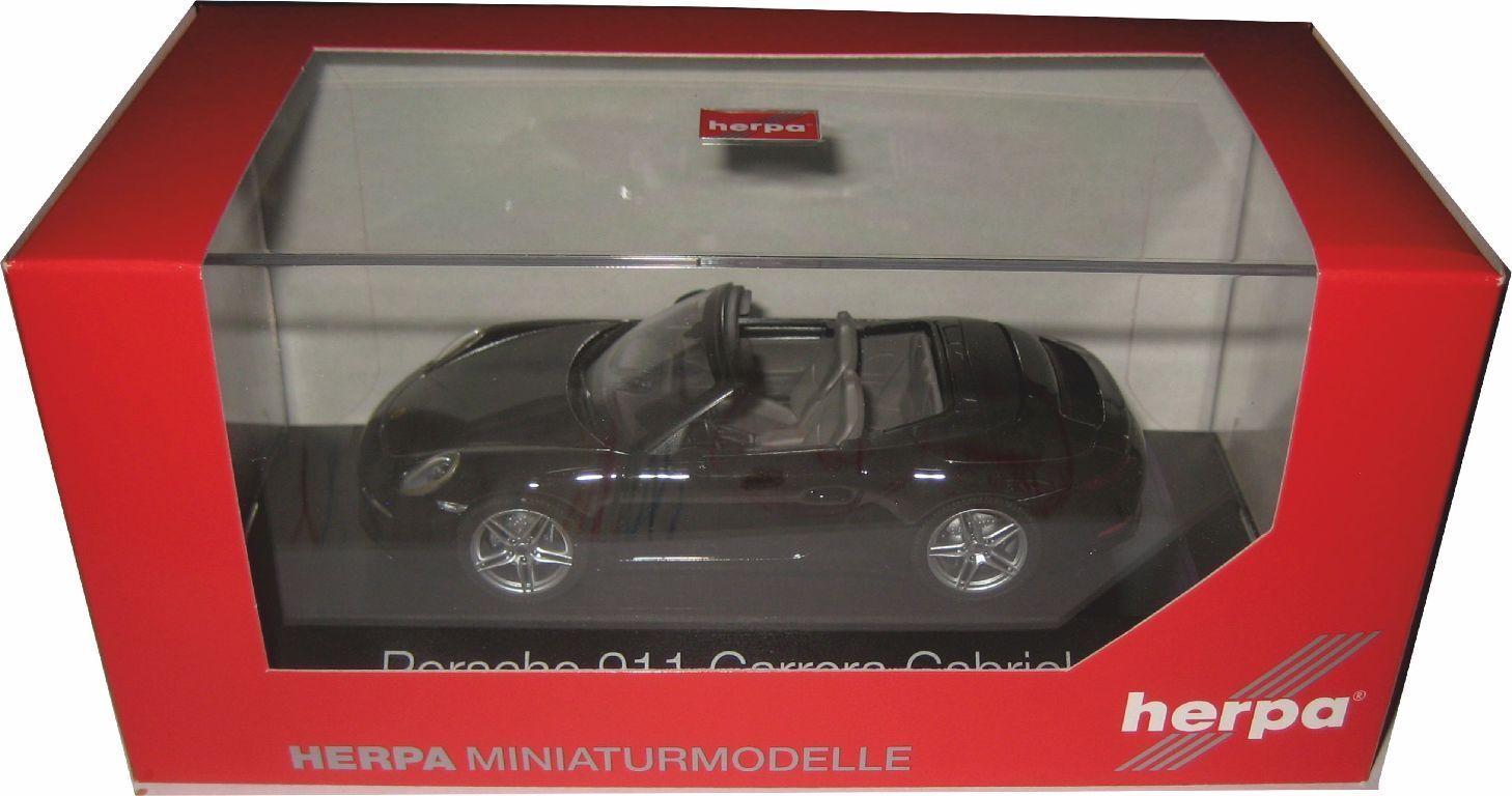 Herpa 071031 PORSCHE 911 CARRERA Cabriolet 991 II tiefnoirmet. 1 43