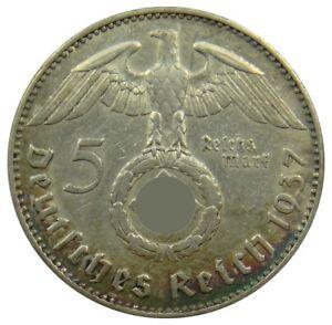 (c14) - Deutschland Germany - 5 Reichsmark 1937 J - Reichsadler - Vf - Km# 94