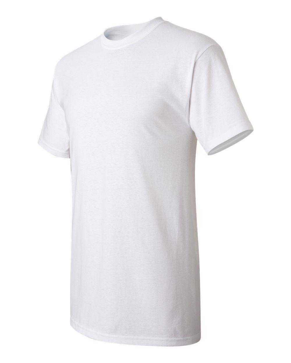 50 New Wholesale Hanes ComfortSoft 100% Cotton White Adult T-Shirts S M L XL