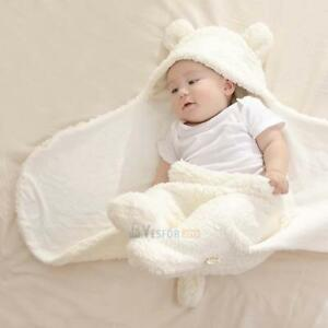 Newborn Baby Infant Swaddle Wrap Warm Swaddling Blanket Soft Cotton