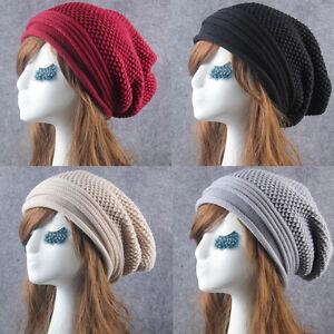 3cb3178c186 Women Knit Winter Slouch Warm Men Hip-Hop Beanie Hat Baggy Unisex ...