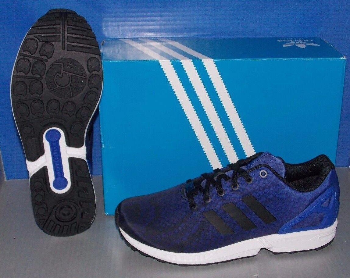 Bei adidas zx - fluss in / farben schwarz / weiß / in blau größe 12 ftw. bo 231574
