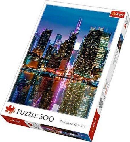 Trefl 37261 500 Pezzi Puzzle Manhattan by night