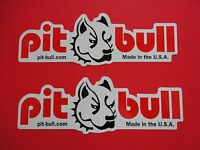 Two Pit Bull Motorcycle Stand Stickers Decals Oem, Genuine & Usa Seller