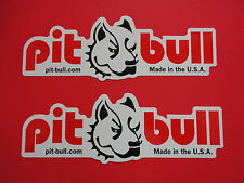 TWO PIT BULL Motorcycle Stand Stickers decals!! OEM, GENUINE & NEW!  USA SELLER!