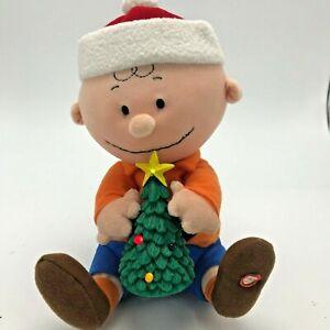 Gemmy Charlie Brown Christmas Tree Animated Plush Musical ...