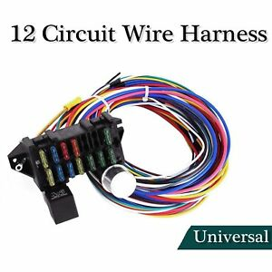 Incredible Universal 12 Circuit Wiring Harness Basic Electronics Wiring Diagram Wiring 101 Photwellnesstrialsorg