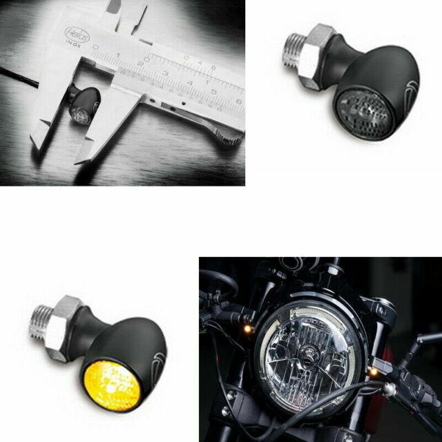 Micro-Bullet Mini-Blinker Paar schwarz universal M10 Aluminium
