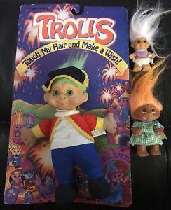 Lot-Of-3-Vintage-Troll-Dolls-DAM-RUSS-SKY-KIDS