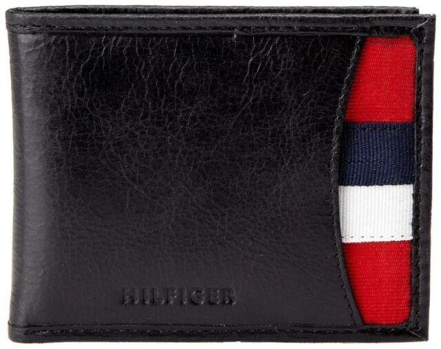Genuine Tommy Hilfiger Men's Leather Passcase Wallet