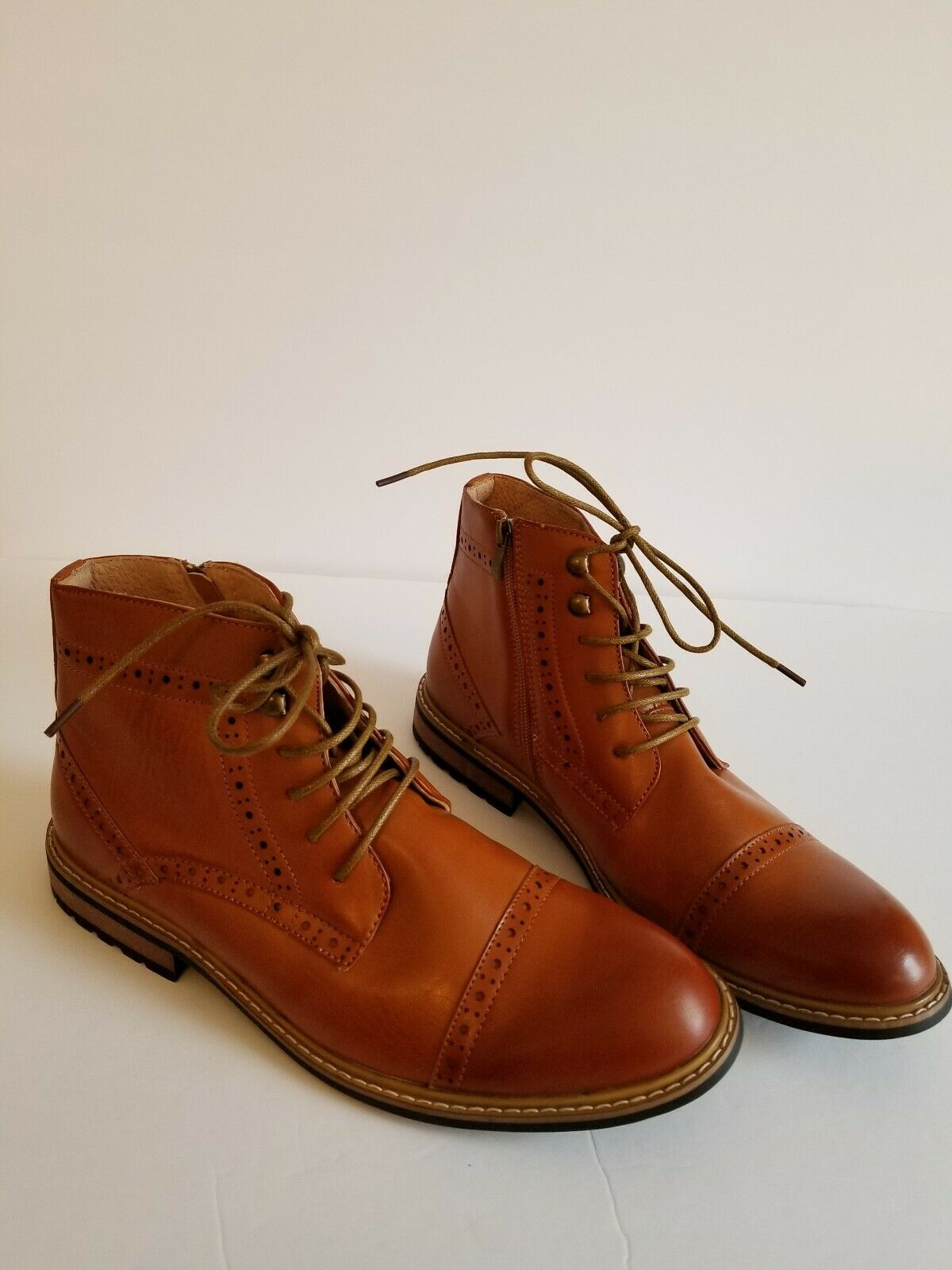 MENS NEW BRUNO MARC NEW YORK BERGEN-03 CHUKKA ANKLE BOOTS SIZE 9.5 CAMEL COLOR