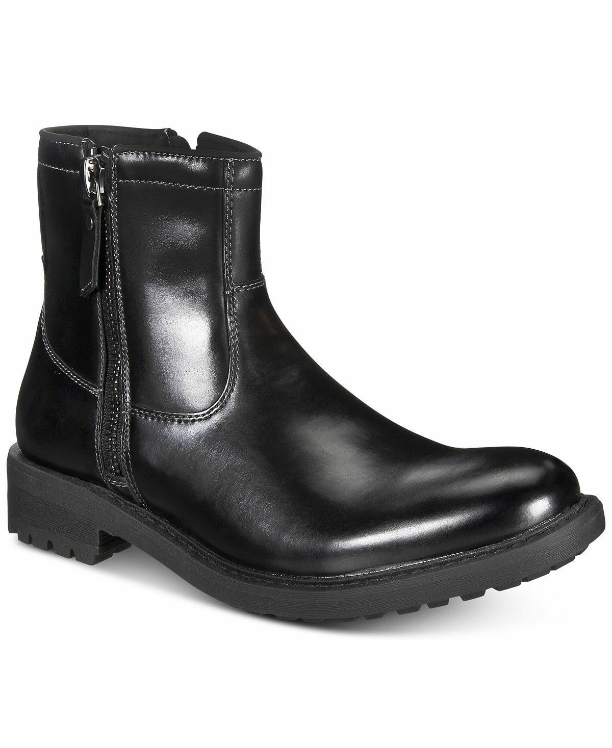 Unlisted by Kenneth Cole Men C-Roam Zip-Up Black Boot Size US 11.5 M  EUR 45 New