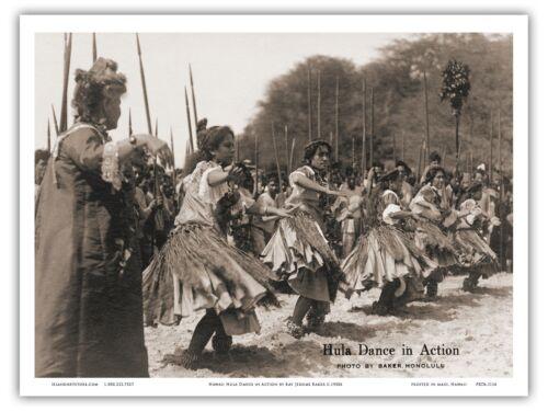 Hawaiian Hula Dance Baker 1930s Vintage Hawaiian Real Photo Postcard Print