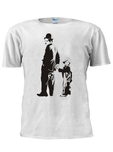 Charlie Chaplin The Little Tramp T Shirt Men Women Unisex Trendy TShirt M642