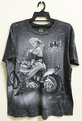 4293 BL LS Biker T-shirt manches longues classic Harley-Motif American Retro Moto