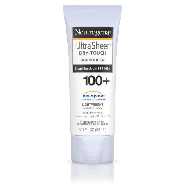 New Neutrogena Ultra Sheer Dry-Touch Sunscreen Broad Spectrum SPF 100+ 3 Fl Oz.