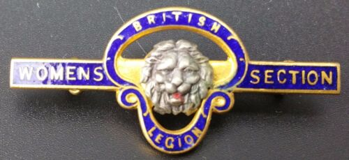 Vintage British Legion Womens Section Enamel Pin Badge Numbered by John Gaunt