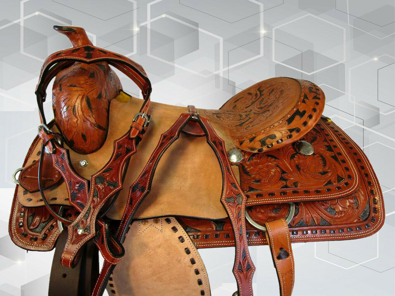 17 16.WESTSTHOHER PLASURE TRAILLE ROLLE ROPER LEATHER SADDLE