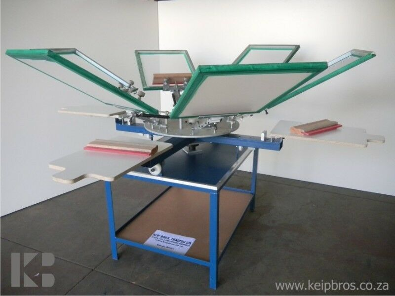 Silkscreen T-shirt Screen Printer 1 2 4 6 8 Colour Printing Equipment Training Supplies Inks Kit