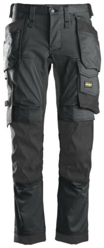 SNICKERS 6241 STRETCH WORK TROUSERS ALLROUNDWORK WITH HOLSTER POCKETS STEEL GREY