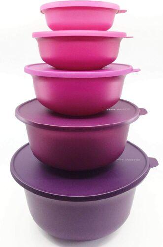 5 bols Aloha gigogne violet Tupperware