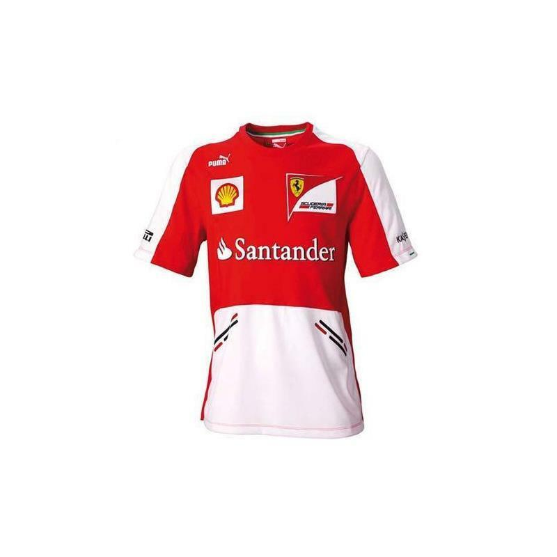 T-shirt Mann Ferrari Team Team Rot Größe m