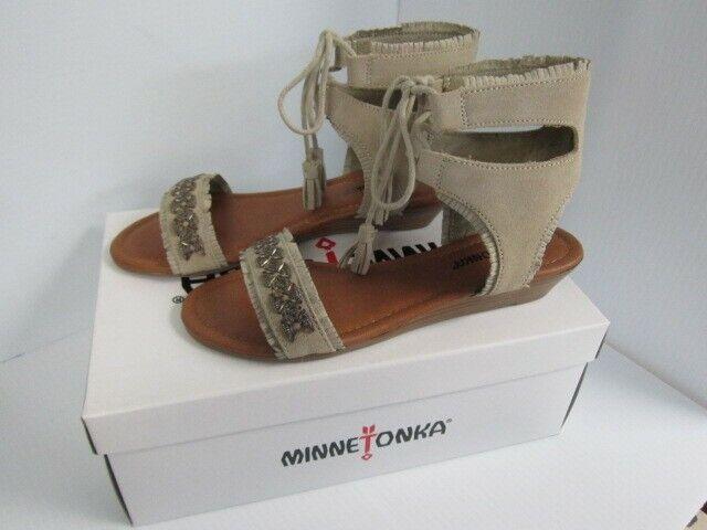 Minnetonka Taupe Portofino Sandals size 7 NEW