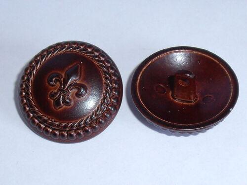 6 PZ Metallo Bottone Bottoni Occhielli Bottoni 22,5 mm BORDEAUX NUOVO ROSTFREI 0133.1