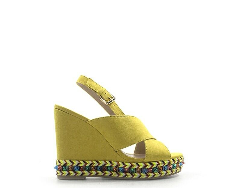 Schuhe MY TWIN BY TWIN SET Frau Gelb Stoff,Wildleder  191MCP130-00701