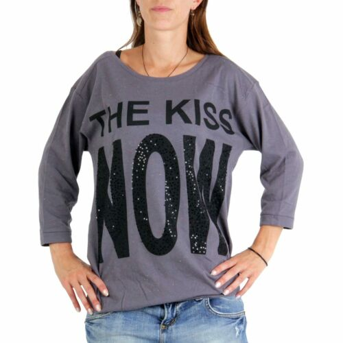 DECAY Premium Collection Damen Shirt The Kiss Now Grey