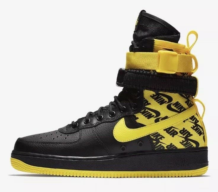 Nike SF AF1 Air Force One High AR1955-001 Men's US 10.5 Black Yellow NEW  180