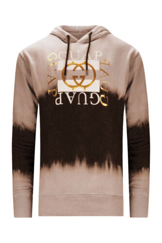NEW Men Sweater GUAP Hooded Shirt Tie Dye Paint Long Sleeve Shirt Sizes M-2XL