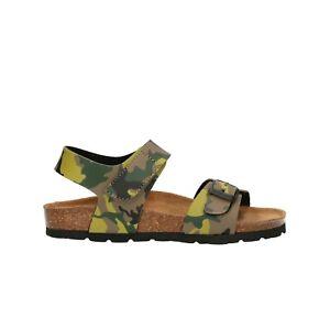 GRUNLAND-Sandali-camouflage-kaki-scarpe-bambino-mod-SB0235