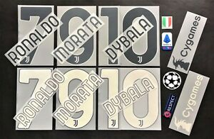 JUVENTUS KIT NOME+NUMERO UFFICIALE HOME/AWAY/3RD 2020-2021 OFFICIAL NAMESET
