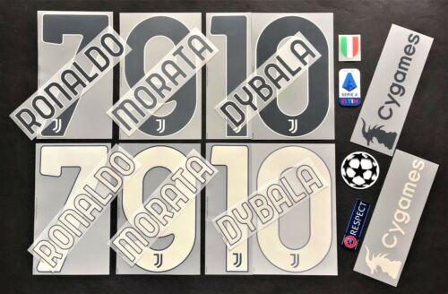 Juventus Ronaldo dybala Set Official Home//3RD 2020-2021 officially Nameset