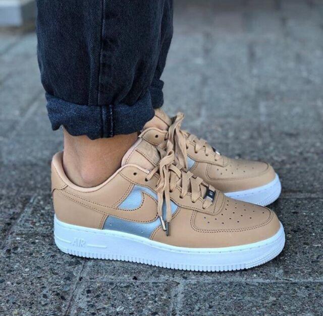 100% Genuine Nike Air Force 1 07 SE PRM Beige Womens AH6827 100