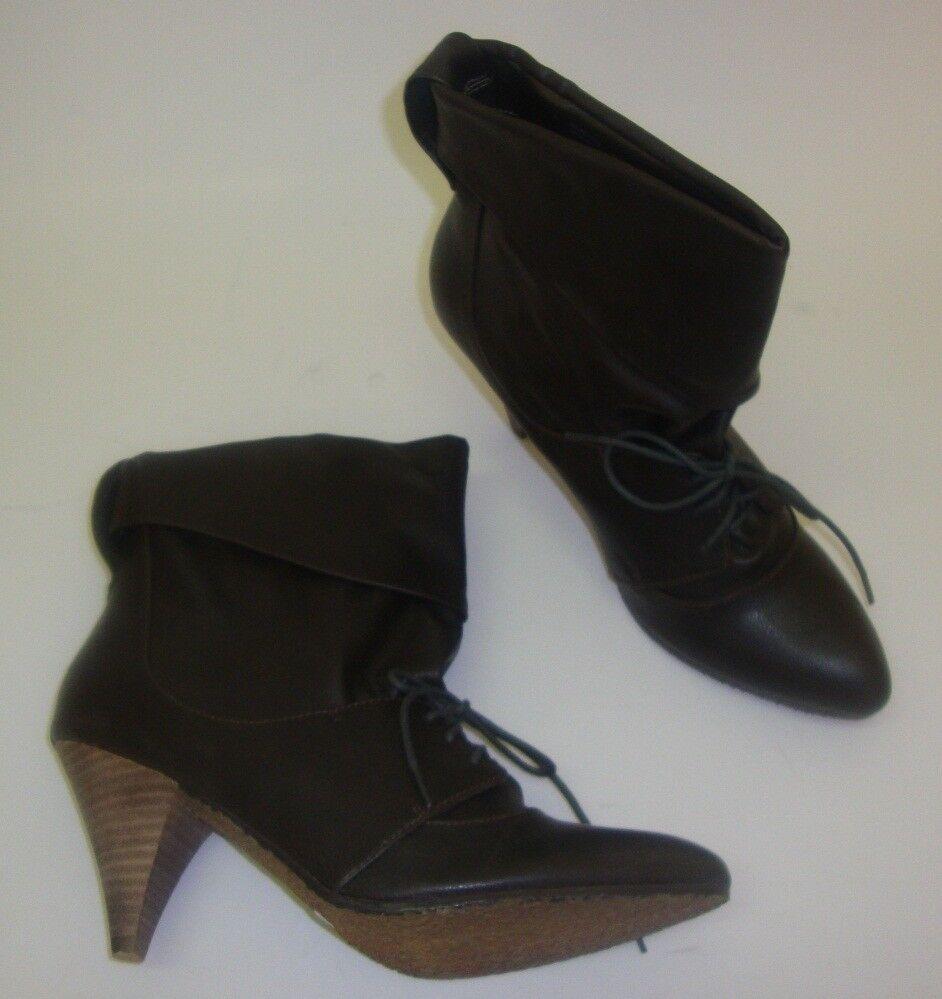 BLINK Lace Up Ankle Stiefel Damen Stiefeletten Gr 41   knöchelhohe Stiefel grau
