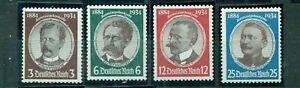 Deutsches-Reich-Kolonialforscher-Nr-540-543-postfrisch