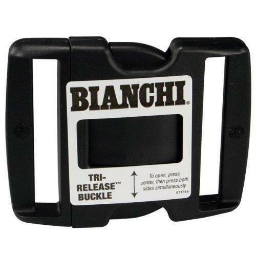 "Bianchi 90063 Replacement Tri-Release Polymer Buckle For 2.00/"" Belts"
