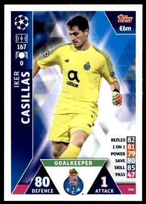 Iker Casillas Topps Champions League 18//19 Sticker 406