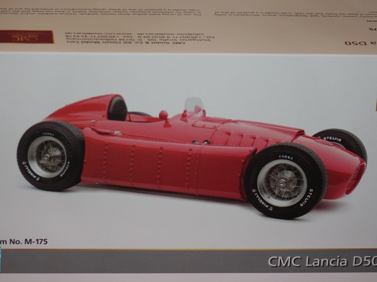 Lancia D50 1954 - 1955  rot 1 18 CMC M-175 neu & OVP  | Diversified In Packaging