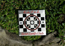 VERY NICE VINTAGE ENAMEL AUTOMOBILE CAR CLUB BADGE # EIFEL MOTOR SPORTS CLUB
