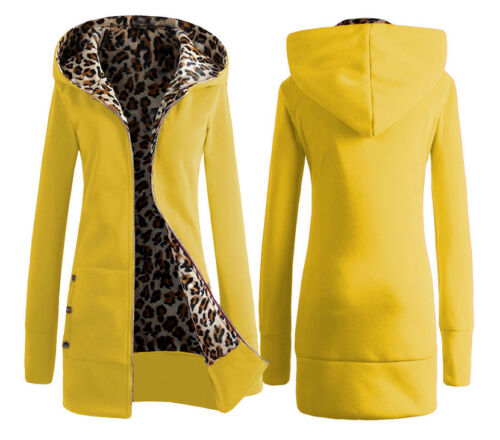 Giacca Donna Interno Leopardato Woman Hoodie Jacket Animal Printing Inside WHO01