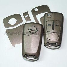 1O_Schlüssel-Dekor Opel Corsa D,Astra H,Zafira B, Vectra braun metallic matt