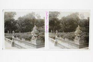 Nîmes Francia Placca Lente Stereo Vintage Positivo 6x13cm