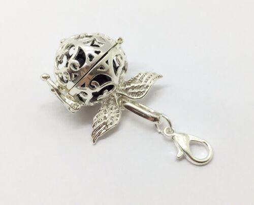 1694 Engelsrufer Mini Perlenkäfig Anhänger Charme inkl Klangkugel Flügel
