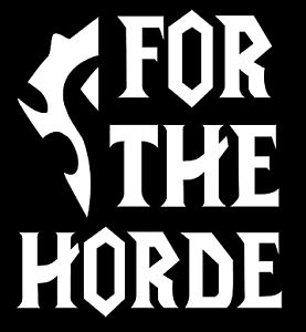 Outdoors FOR THE HORDE Decal Windows Phone Computer. LOGO JDM Decal for Car
