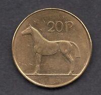AUNC/UNC Ireland 1998 Twenty Pence 20p Hunter Horse Irish Coin