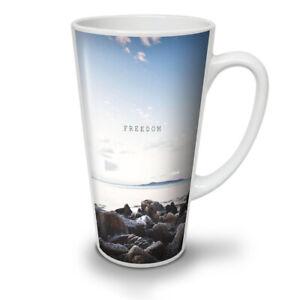 Freedom Sea Life Nature NEW White Tea Coffee Latte Mug 12 17 oz | Wellcoda
